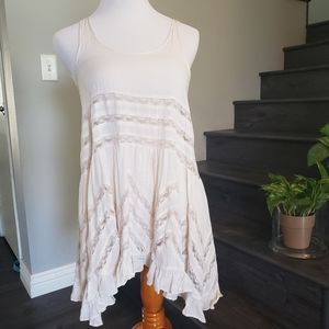 Free people Voile Lace Trapeze Slip-On dress